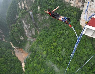 bungee jumping in China's, popular spot for bungee jumping in China, highest bungee jumping sites in China, places in China for Bungee jumping, best bungee jumping in China